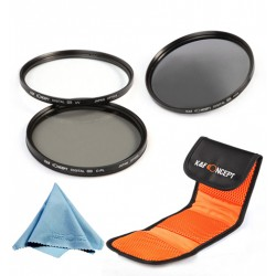 Set filtre UV CPL ND8 pe 52mm K&F Concept + Bonus microfibra (Cod: SFUVCPLN52MM)